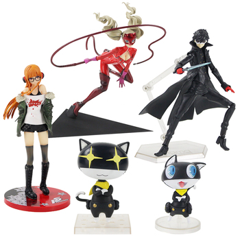 4 Styles Persona #363&793 Amamiya Ren Joker with Morugana Futaba Sakura Mona PVC Action Figure Toy Collection Movable Model 1