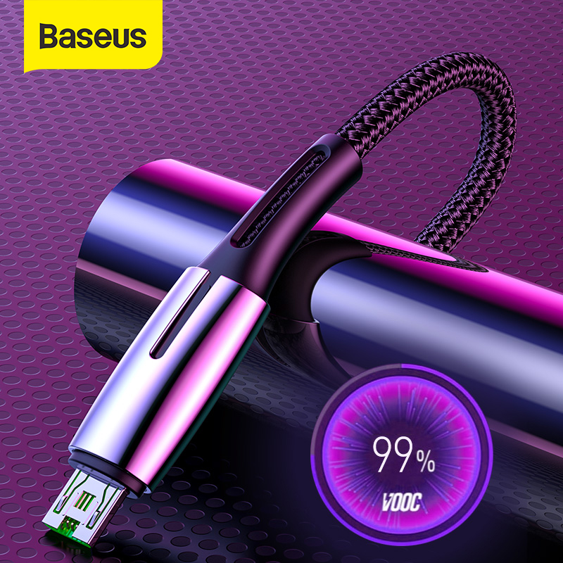 Baseus Micro USB Cable for OPPO 4A VOOC Fast Charging Cable Micro USB Charger Cable for Samsung Xiaomi Redmi Note 4 5 Data Wire|Mobile Phone Cables|   - AliExpress
