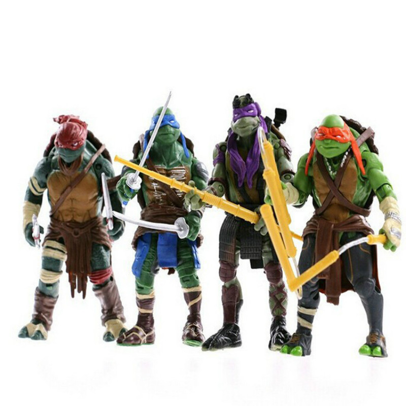 Hot-selling Variant Era 4 Turtles Joint Movable Doll Toy Hand Model Exquisite Simulation Ninja Doll Cool Birthday Gift