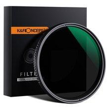 K & f concept ND8-ND2000 filtro de câmera variável, 49mm 62mm 67mm 72mm 77mm nano-filtro de densidade neutra x para canon nikon sony