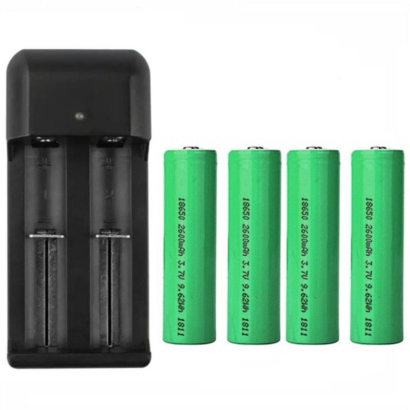 Doorbell 18650 Battery 2600mAh Intercom Battery With Dual Charger For EKEN Wifi Door Bell Anytek Doobell For E-cigarette Battery