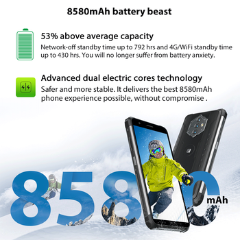 """Blackview BV6600 IP68 Waterproof 8580mAh Rugged Smartphone Octa Core 4GB+64GB 5.7"""" Mobile Phone 16MP Camera NFC Android 10 2"""