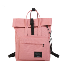 casual canvas women usb charge backpack laptop large female
