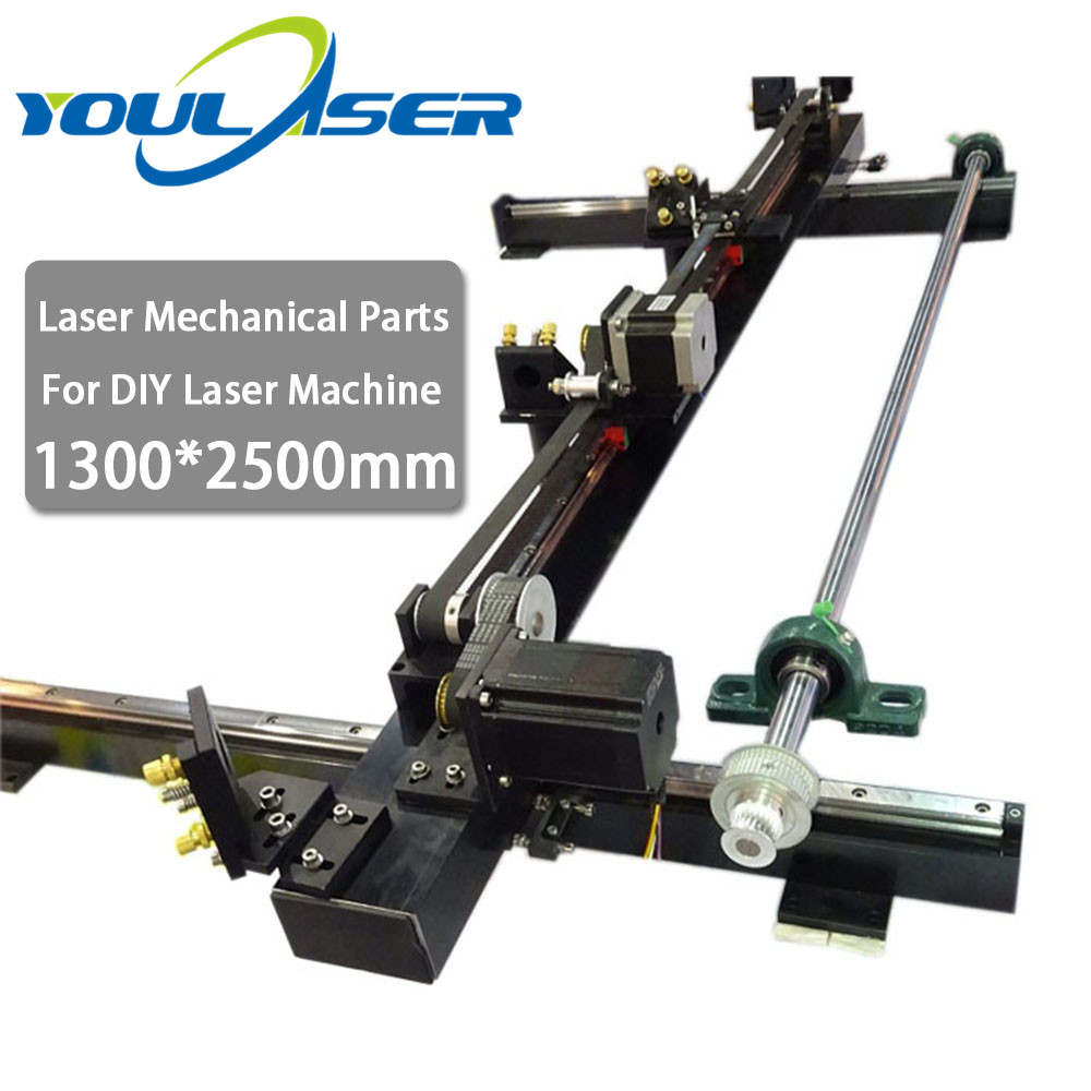 Laser Mechanical Parts Set Kits Spare Parts 1300mm*2500mm Single Head For DIY 1325 CO2 Laser Engraving Cutting Machine