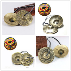 6.5cm Tibetan Bell Meditation Handcrafted Cymbal Bell Copper Crisp Sound Lucky Symbols Buddhist Temple with Bag