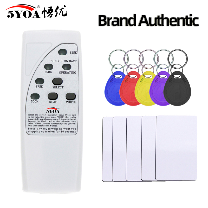 4 Frequency Rfid Card Reader Writer 125KHz Copier Duplicator ID Tags Programmer Light Indicator EM4305 T5577 Key Card Keyfob