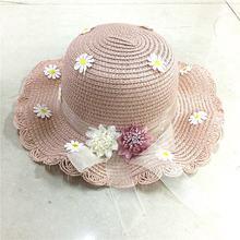 Соломенная шляпа для маленьких девочек детская пляжная шапка