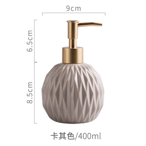 Image 5 - 400ml Round Fold Ceramic Soap Dispenser For Kitchen Bathroom Accessories Lotion Bottle Shower Gel Bottle Hand Sanitizer Bottle