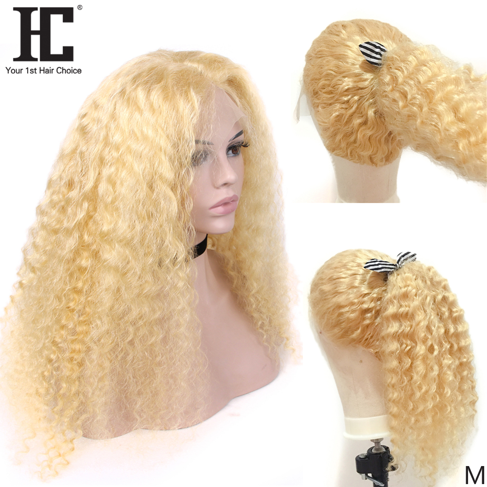 Deep Wave 613 Blonde 13x4 Lace Front Wig With Baby Hair Glueless 150% Brazilian Remy Human Hair Lace Front Wigs Medium Ratio HC