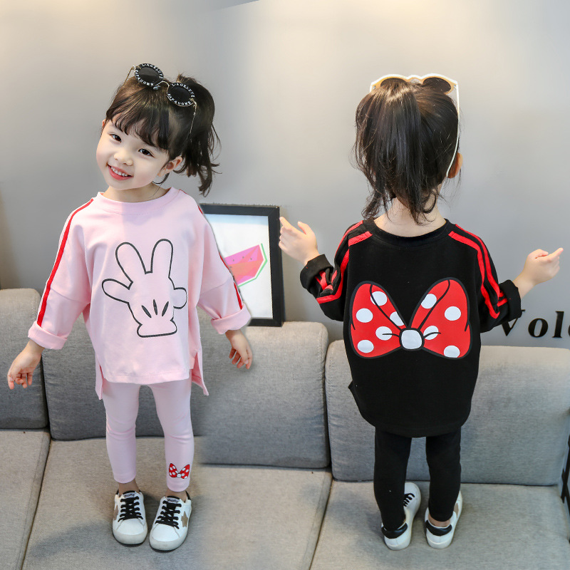 Minnie Children Clothing Outfit Costume For Kids Sport Suit Spring Autumn Toddler Girls Clothes Tracksuit Girls Clothing Sets