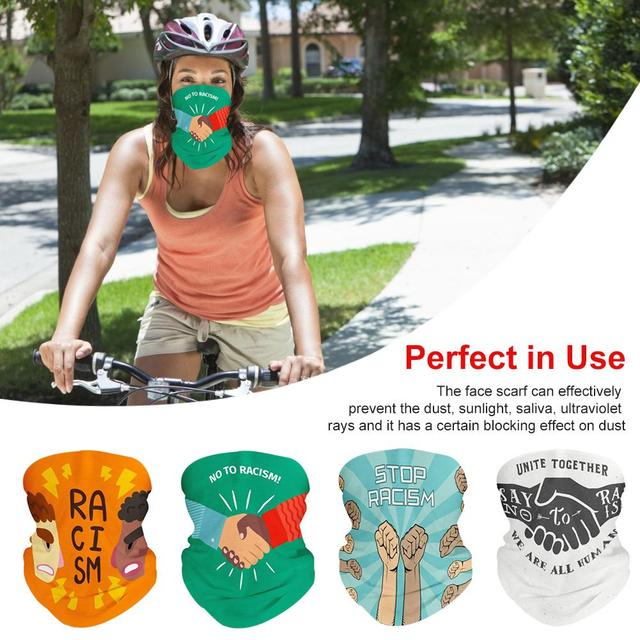 Magic Scarf Men Cycling Motorcycle Balaclava Head Scarves I CAN'T BREATHE Outdoor Windproof Sports Headband Neck Sunscreen Mask
