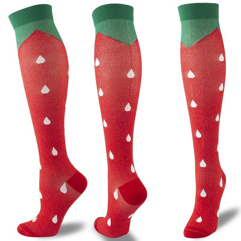 New Compression Stockings Women's Slim Beauty Leg Prevent Varicose Veins Sports Compression Men Running Long Socks Knee High