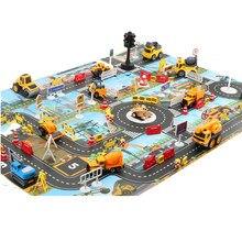 Ruch drogowy samochodzik zabawka mapa dzieci gra edukacyjna mata inżynieria miejska ruch Parking zwierząt dzieci dywan wodoodporny plac zabaw