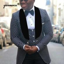 Latest White Suits For Wedding Tuxedos Groom Wear Black Peaked Lapel Groomsmen Outfit Man Blazers 3 Piece Trajes De Hombre 2021