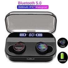 4000 мАч зарядный чехол TWS Bluetooth 5,0 наушники гарнитуры светодиодный дисплей сенсорное управление Спортивная стерео Беспроводная гарнитура мини-наушники