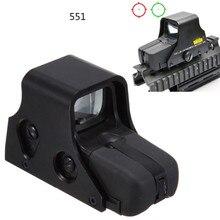 DREAMY Red Dot Sight 551 голографический оптический прицел зеленый/красный сетка подсветка отрегулировать оружие прицел страйкбол пистолет