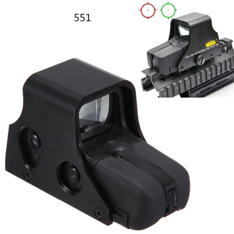 DREAMY Red Dot Sight 551Holographic Optical Sight Green/Red Reticle Illumination Adjust Weapon Sight Riflescope Airsoft Gun