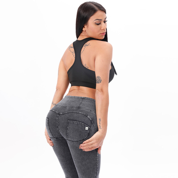 Melody Grey High Waist Denim Dark Stitch Woman Jeans Zipper Fly Super Comfortable Push Up Jeans Woman High Rise jeans mujer