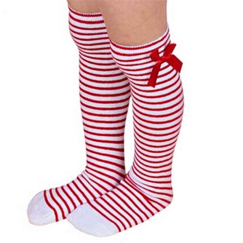 1 пара, хит продаж, милый детский полосатый сапог с бантом для девочек зимние теплые детские чулки до колена