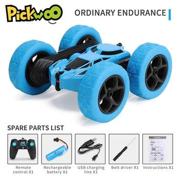 Pickwoo C7 RC Car 2.4Ghz 4CH 1:16 Stunt Drift Car Rock Crawler Remote Control Car 360 Degree Flip RC Vehicle Toys with LED Light 1