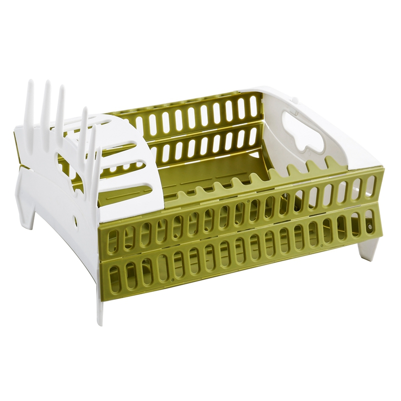 Foldable Dish Rack Kitchen Storage Holder Drainer Bowl Tableware Plate Cup Creative- Drying Rack Home Shelf Dinnerware Organizer