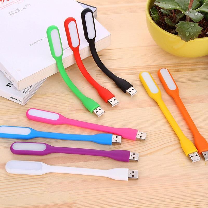 Mini Creative USB LED Book Light Summer Flexible Foldable USB LED Lamp Power 5V 1.2W For Mobile Power Computer Laptop