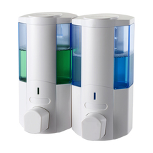 SVAVO Manual Liquid Soap Dispenser Double Bottle 350ML*2 Commercial Wall mounted fro Kitchen Bathroom