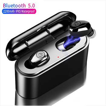 X8 TWS Bluetooth True Wireless Earphones 5D Stereo Earbuds Mini TWS Waterproof Headfrees 2200mAh Power Bank For Smart phones