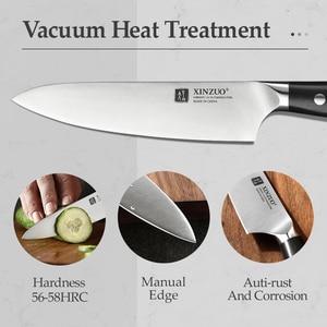 Image 4 - XINZUO cuchillo multifunción de acero, 5 pulgadas, Alemania 1,4116, cuchillos multiusos de cocina, cuchillas afiladas para cortar