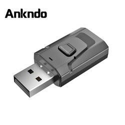 Adaptador USB Bluetooth 5,0 Blue Tooth Dongle adaptador Aux de 3,5mm para PC, Kit de coche, transmisor de música, adaptador inalámbrico
