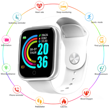Bluetooth Smart Watch Waterproof Sport Smartwatch Heart Rate Monitor Blood Pressure Tracker Fitness Wrist Watch For IOS Android diggro di10 smart sport watch ip68 waterproof pedomete long standby time bluetooth 4 0 smart 1 21 inch watch for ios android