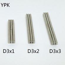10 20 50 pz/lotto magnete NdFeB 3*1 3*2 3*3 N35 magnete a disco 3x1 3x2 3x3 magneti per altoparlanti rotondi