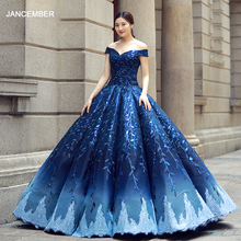 RSM66557 blue and red off shoulder shiny evening dress sweetheart  floor length puffy pleat evening party dress quick shipping