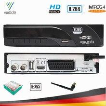 Vmade DVB T2 hd digital terrestre receptor suporte youtube h.265/hevc dvb t venda quente europa tv tuner conjunto caixa superior + usb wi fi