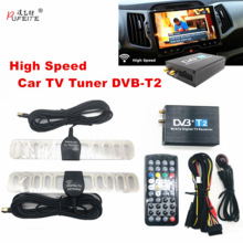 DVB-T2 Car Receiver Tuner Digital 2-Antenna Car-Tv Black USB External Dvd for 120km/H