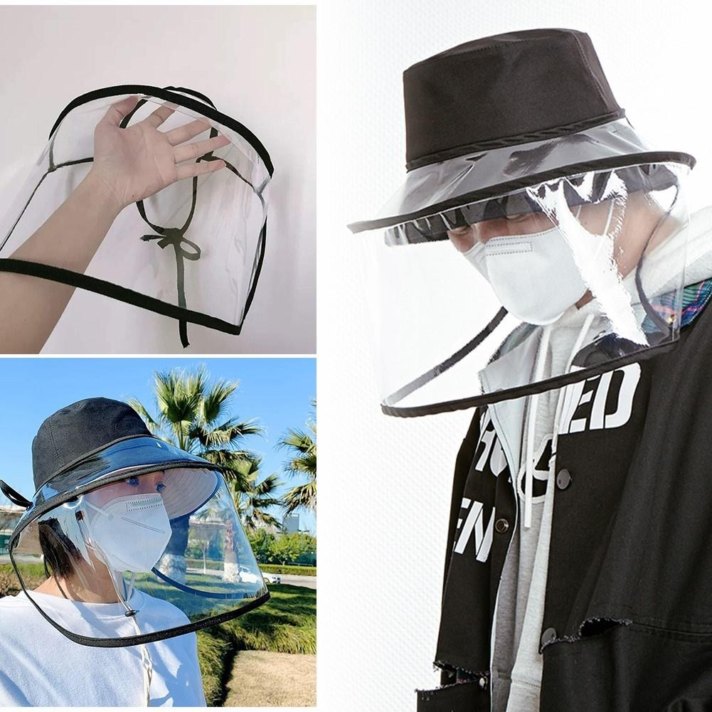 Protective Adjustable Hat Anti Droplet Dust-proof Full Face Cover Mask Visor Shield Full Face Protection Dust Shield Baffle Hat