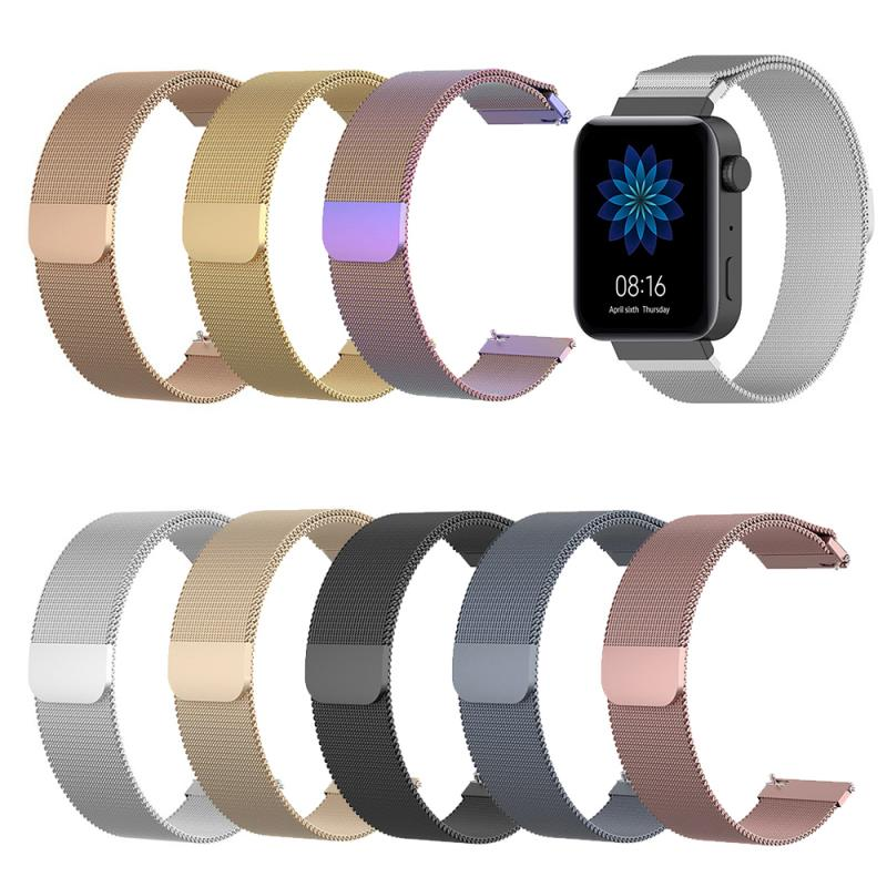 18MM Watch Bands For Xiaomi Watch Sport Loop Stainless Steel Mesh Wrist Strap For Xiaomi Pk For Xiaomi Huami Amazfit Bip Strap