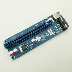 Image 4 - Kable komputerowe złącza PCIE Riser PCI E 16x/x16 Riser do karty graficznej kabel usb 3.0 Molex 4Pin SATA Power do bitcoinów Mining