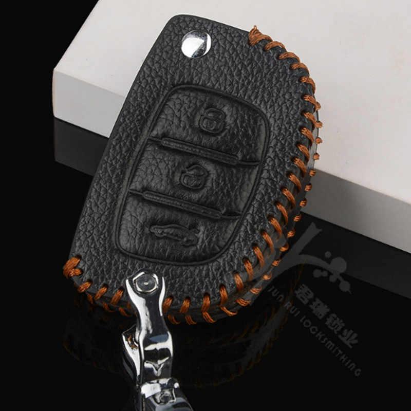 DAKATU cuir voiture porte-clés sac pour Hyundai Elantra Sonata Tuscon IX 35 Auto télécommande Fob couverture porte-clés protecteur sac