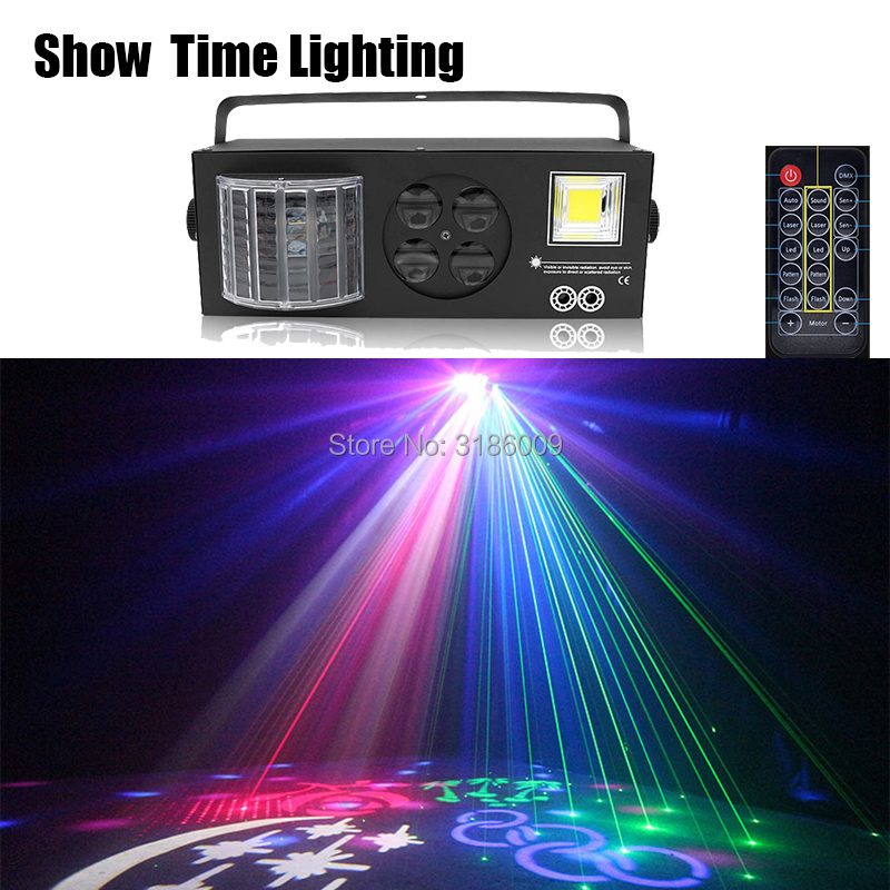 Designed For Europe/Russia Remote Control Gobo Laser Strobe LED 4 In 1 Dj Light Good Use For Home Party Entertainment KTV Club