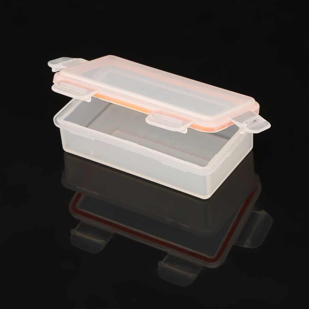 1 pçs soshine 4 células 18650 bateria à prova dwaterproof água caso de armazenamento 18650 transparente caixa titular da bateria plástico duro caso protetor