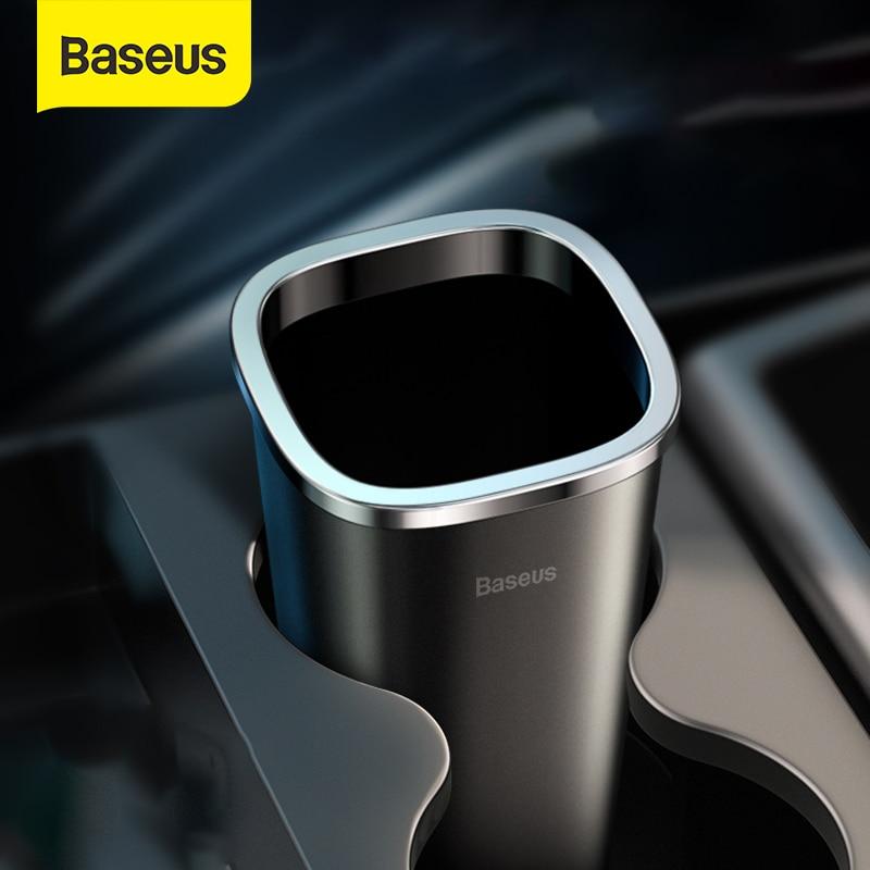 Baseus Car Trsah Bin 800ml Auto Garbage Can Car-styling Rubbish Box Holder With 90pcs Garbage Bag Accessories