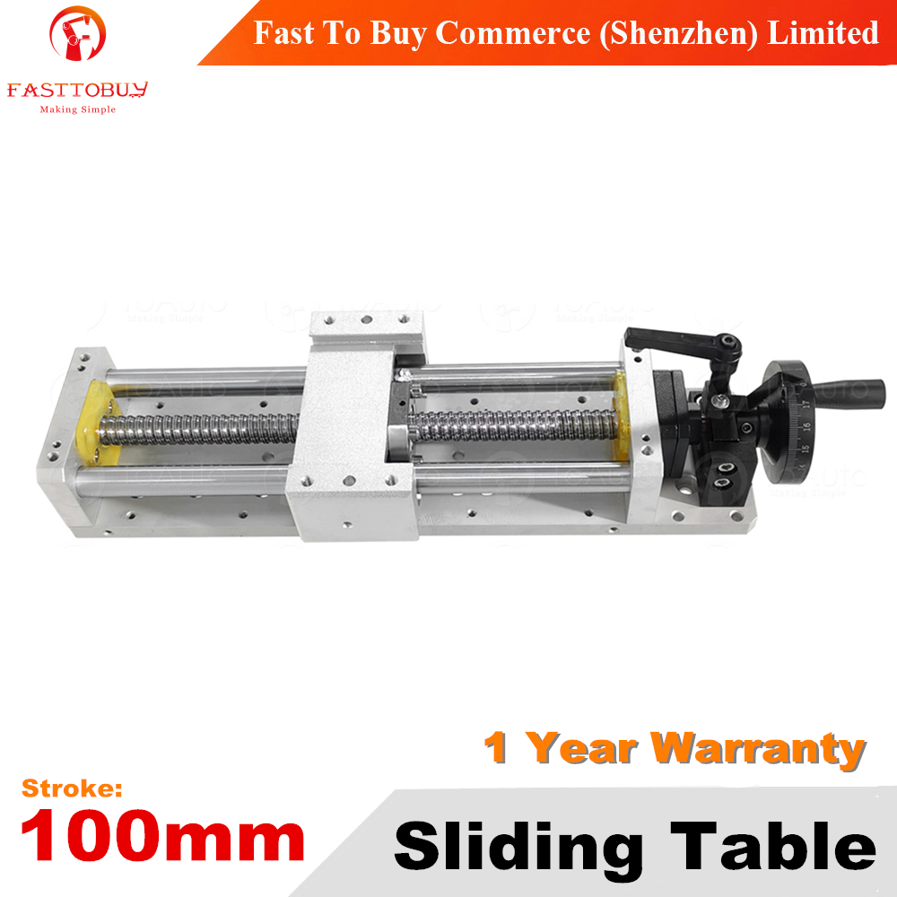 Stroke 100mm C7 CNC Sliding Table 1605 Manual Operation Linear Guides Repositioning resolution 0.03mm for CNC Machine