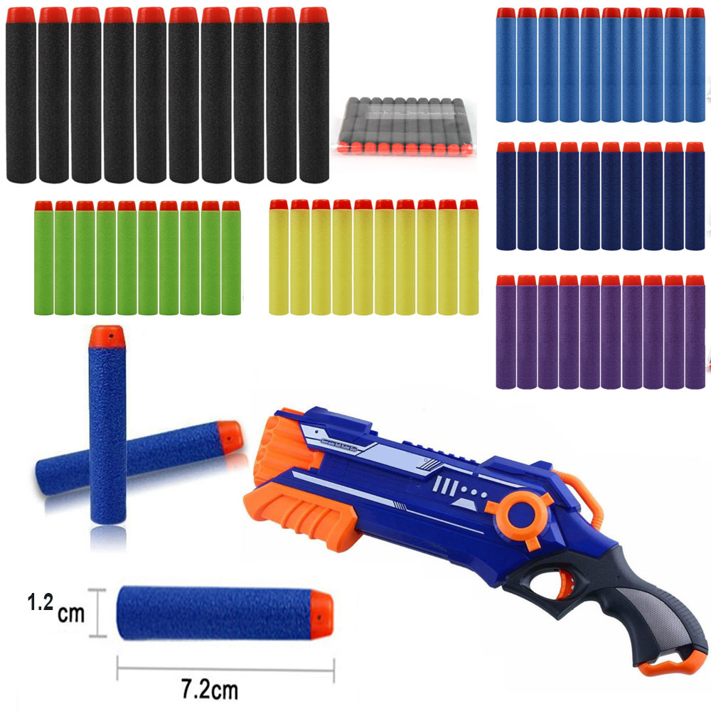 Darts Bullets Soft Bullet Durable Practical 10pcs EVA 6 Color Gifts Shooting Supplies Sniper War Game Paintball Outdoor Tool
