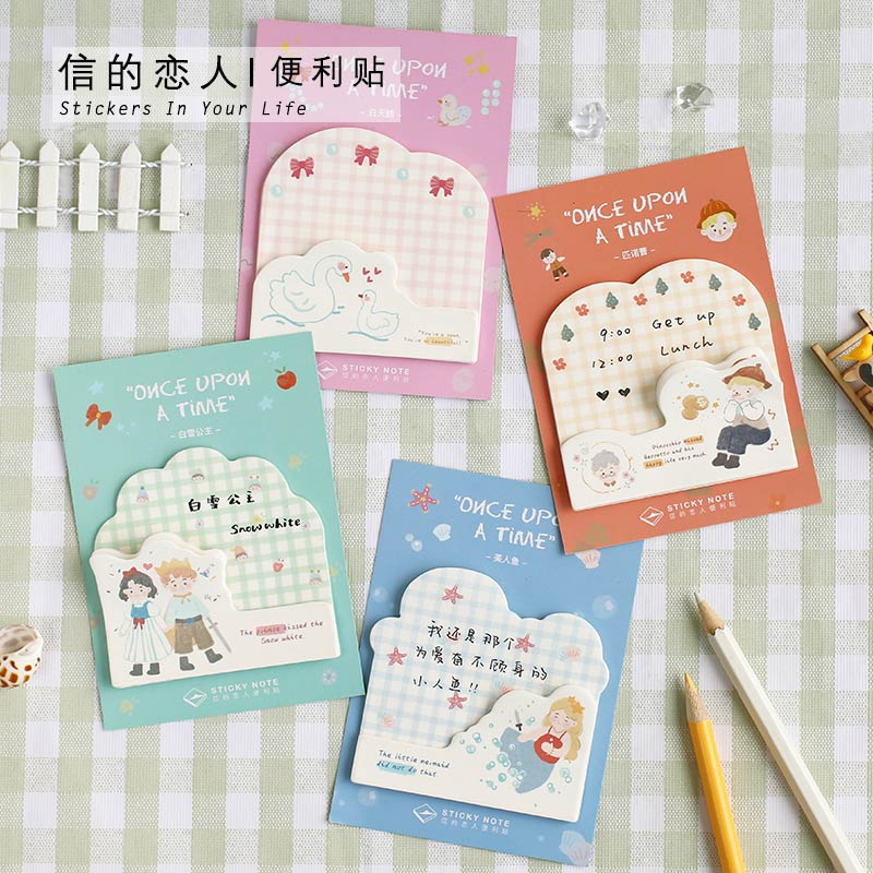 30sheets/pack Fairy Stories Kawaii Sticky Notes Memo Pad School Supplies Planner Stickers Stationery