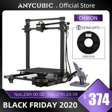 ANYCUBIC Chiron yeni 3D yazıcı kiti klipleri ile artı boyutu Ultrabase ekstruder ekran çift Z Axisolor güncellenmiş Impresora 3d Drucker