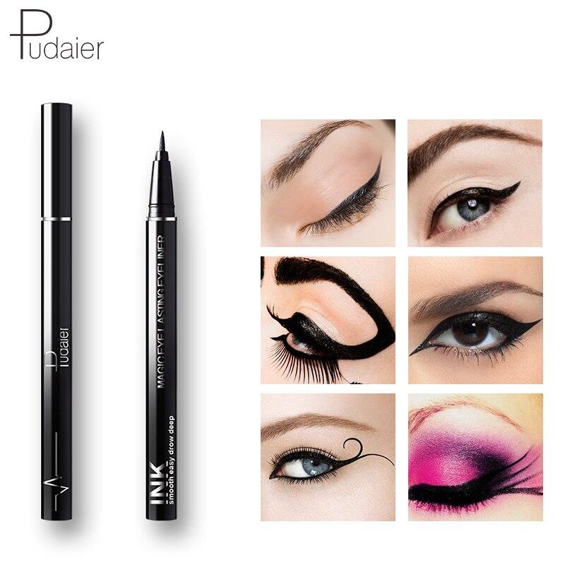 Lápiz Delineador de ojos impermeable de secado rápido de larga duración suave negro delineador de ojos líquido Lapiz Ojo maquillaje Crayon Yeux ceja belleza