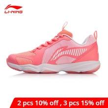 لي نينغ المرأة الحارس TD 3 الريشة أحذية تدريب دعم مستقر يمكن ارتداؤها أحذية رياضية بطانة لي نينغ أحذية رياضية AYTN062 XYY118