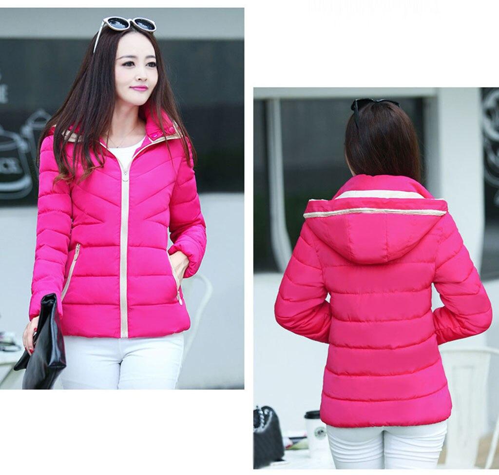 H2eb70f96cc4d4e61880e5ec334981bf9w fashion Women's Jackets Hooded Thickening Slim Outwear Winter Warm Casual Short Jacket Women Coat Outwear Tops