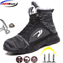 DEWBEST Men&Women Warm Winter Work Safety Shoes A Fashion Casual Shoes Work Tooling Safety Boots working shoes(China)